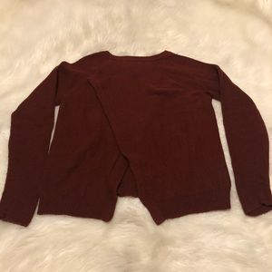 Madewell province cross-back sweater in brick red